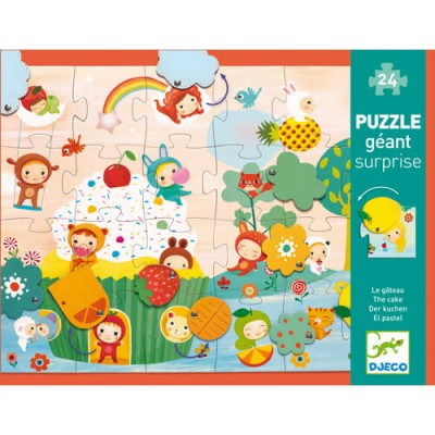 DJECO Giant Surprise Puzzle - The Cake 24pcs