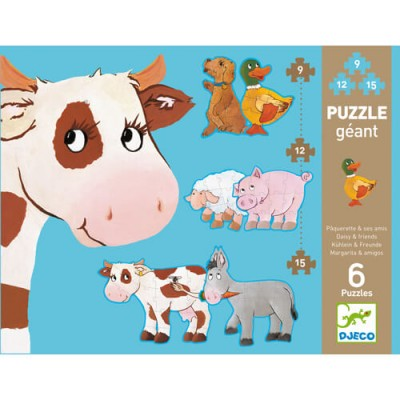 DJECO Progressive Giant Puzzle - Daisy & Her Friends
