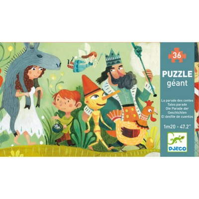 DJECO Giant Puzzle - Tales Parade 36pc