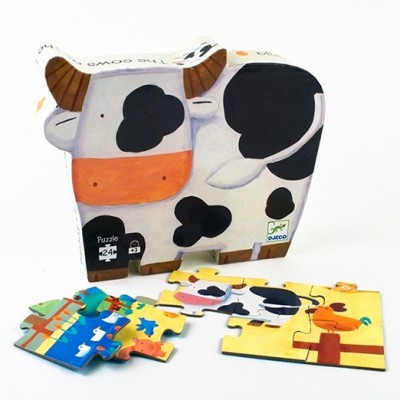 DJECO Silhouette Puzzle - The Cows On The Farm
