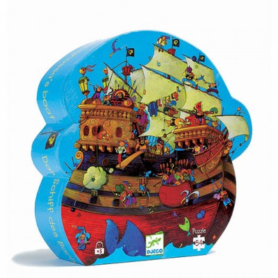 DJECO Silhouette Puzzle - Barbarossa's Boat