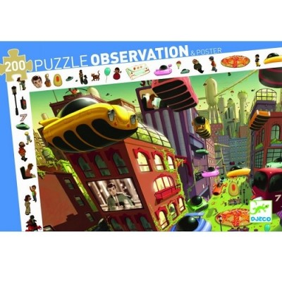 DJECO Observation Puzzle - City of Future