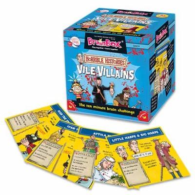 GREEN BOARD GAME CO  BrainBox Horrible Histories Vile Villains