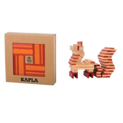 KAPLA 40 Pl. Book Colour Set (Red & Orange)