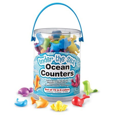 LEARNING RESOURCES Under The Sea Ocean Counters (Set of 72)