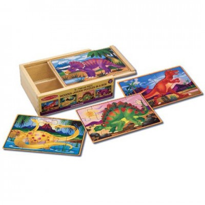 MELISSA & DOUG Dinosaurs Puzzle in a Box