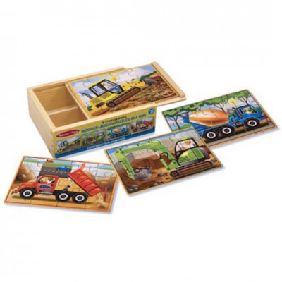 MELISSA & DOUG Construction Puzzle in a Box