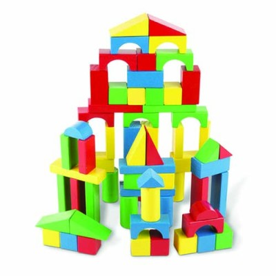 MELISSA & DOUG 100 Wood Blocks Set