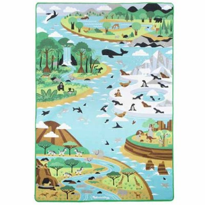 MELISSA & DOUG Jumbo Habitats Activity Rug