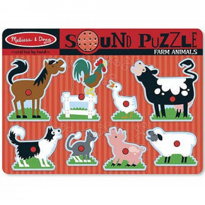 MELISSA & DOUG Farm Animals Sound Puzzle