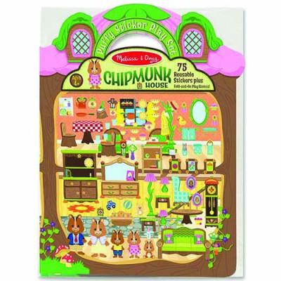 MELISSA & DOUG Puffy Stickers - Chipmunk House