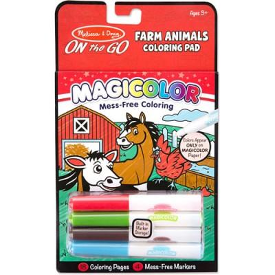 MELISSA & DOUG Magicolor Coloring Pad Farm Animals