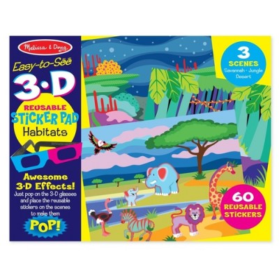 MELISSA & DOUG Habitats 3D Reusable Stickers
