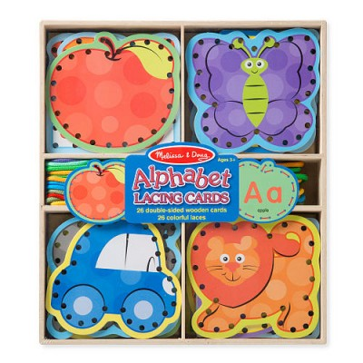 MELISSA & DOUG Alphabet Lacing Cards