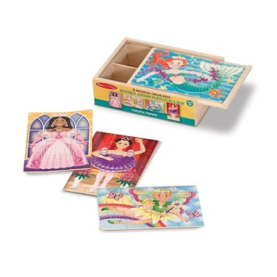 MELISSA & DOUG Fanciful Friends Puzzle in a Box