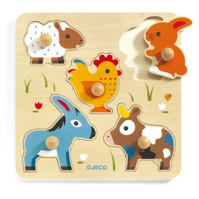 DJECO Hihan & Co Large Buttons Puzzle
