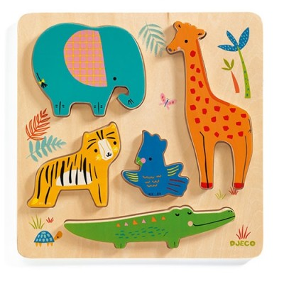 DJECO Woody Jungle Relief Puzzle