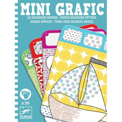 DJECO Doodle Colouring Picture - Mini Grafic