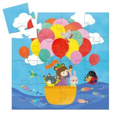 DJECO The Hot Air Balloon 16pcs Silhouette Puzzle