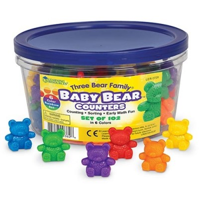LEARNING RESOURCES Baby Bear Counters, 6 Colors, Set of 102