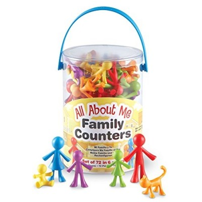 LEARNING RESOURCES All About Me Family Counters (Set/72)
