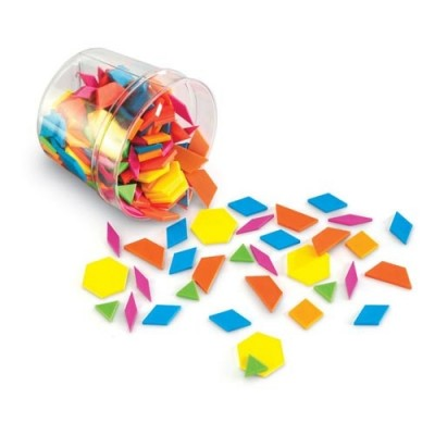 LEARNING RESOURCES Brights! Pattern Blocks (Set of 250)