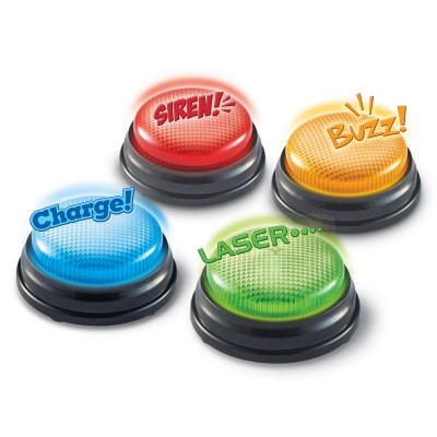 LEARNING RESOURCES Lights & Sounds Answer Buzzers - Set of 4