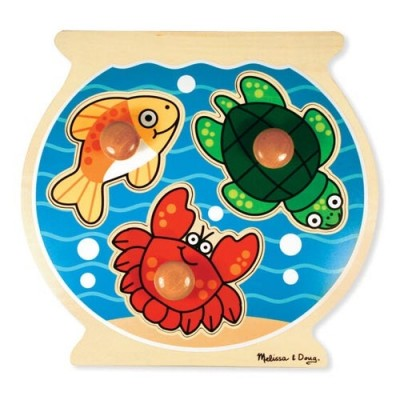 MELISSA & DOUG Fish Bowl Jumbo Knob - 3 Pieces