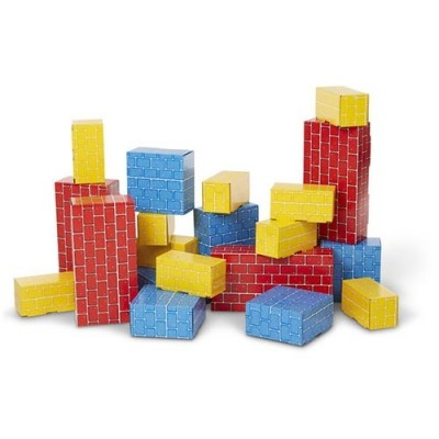MELISSA & DOUG Jumbo Cardboard Blocks - 24 Pieces