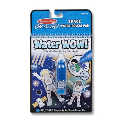 MELISSA & DOUG Water WOW! Space Water-Reveal Pad - On the Go Travel Activity