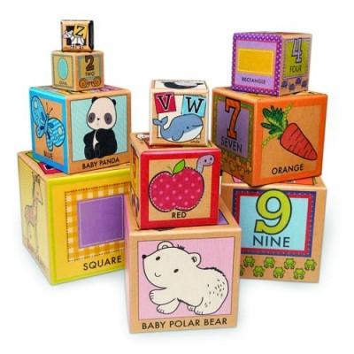 MELISSA & DOUG Natural Play Early Learning 10 Stacking & Nesting Cardboard Blocks
