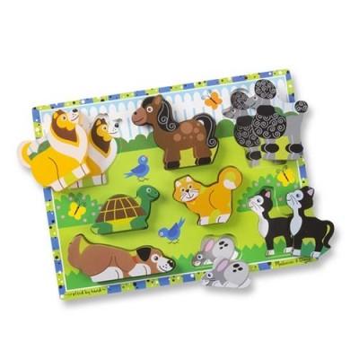 MELISSA & DOUG Pets Chunky Puzzle - 8 Pieces