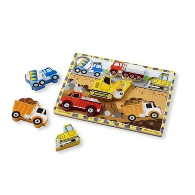 MELISSA & DOUG Construction Chunky Puzzle - 6 Pieces