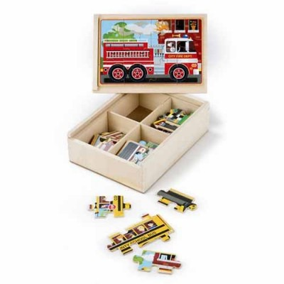MELISSA & DOUG Vehicle Puzzle in a Box
