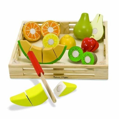 MELISSA & DOUG Cutting Fruit Set- Wooden Play Food