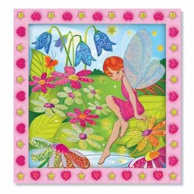 MELISSA & DOUG Flower Garden Fairy Peel & Press Sticker by Numbers