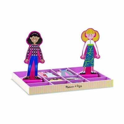 MELISSA & DOUG Abby & Emma Magnetic Dress-Up