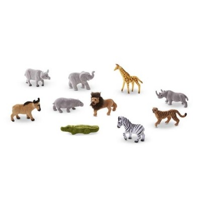 MELISSA & DOUG Safari Sidekicks - 10 Collectible Wild Animals