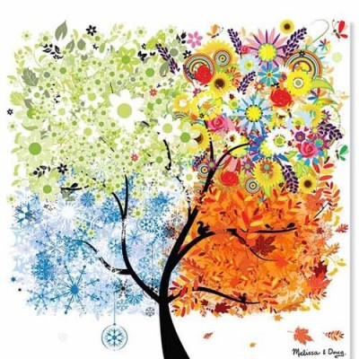 MELISSA & DOUG Seasons Tree - 200 pcs Cardboard Jigsaw