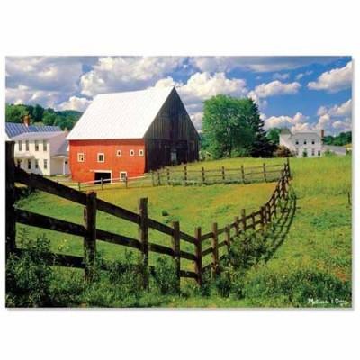 MELISSA & DOUG Peaceful Farm Cardboard Jigsaw 500 pc