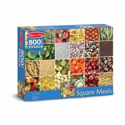 MELISSA & DOUG Square Meals Cardboard Jigsaw 500 pc