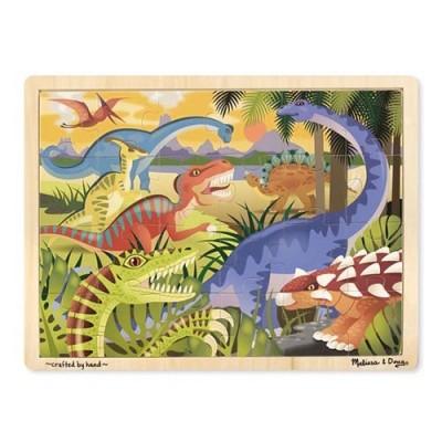 MELISSA & DOUG Dinosaur Wooden Jigsaw Puzzle - 24 Pieces
