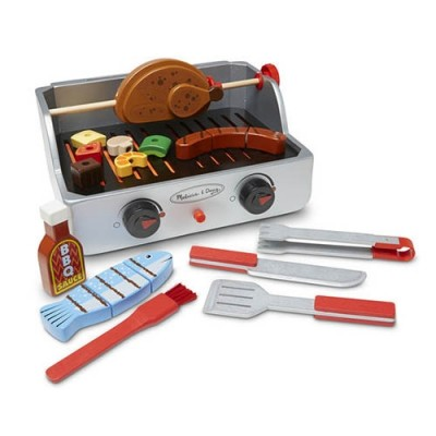 MELISSA & DOUG Rotisserie & Grill Barbecue BBQ Set