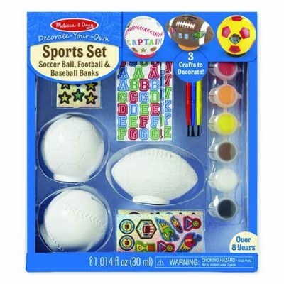 MELISSA & DOUG Decorate-Your-Own Sports Set