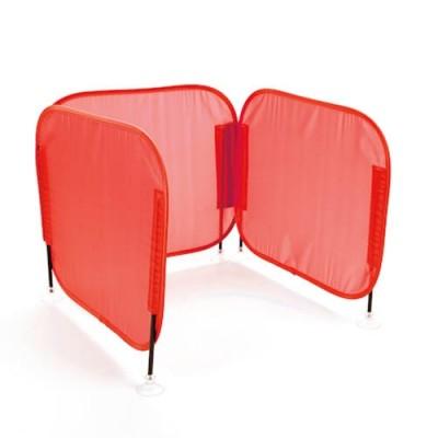 TTS Pop Up Concentration Desk Barrier Red