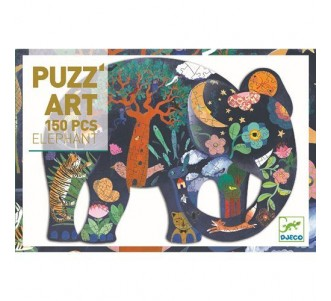 DJECO Puzz' Art - Elephant (150 pieces)