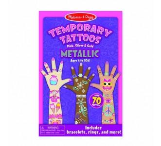 MELISSA & DOUG Temporary Tattoos - Metallic