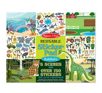 MELISSA & DOUG Reusable Sticker Pad - Habitats