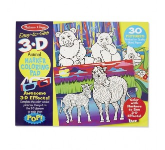 MELISSA & DOUG 3D Colouring Book - Animals
