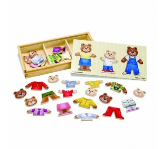 MELISSA & DOUG Bear Family Dress-Up Puzzle